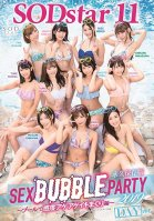 11 SODstar Actresses - SEX BUBBLE PARTY 2019 - Rising Pleasure And Non-Stop Cumming At The Pool